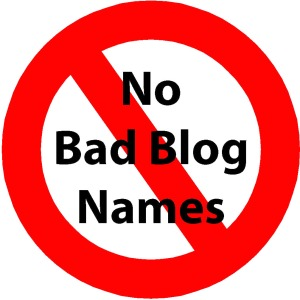No Bad Blog Names