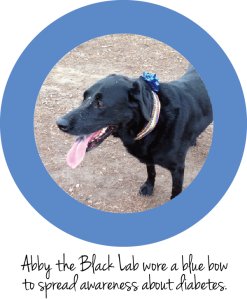 Abby Wearing Blue Bow