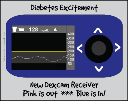 Dexcom Blue Excitement