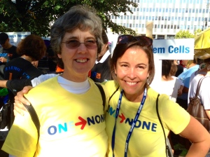 With Alecia at JDRF One Walk Manhattan 2014