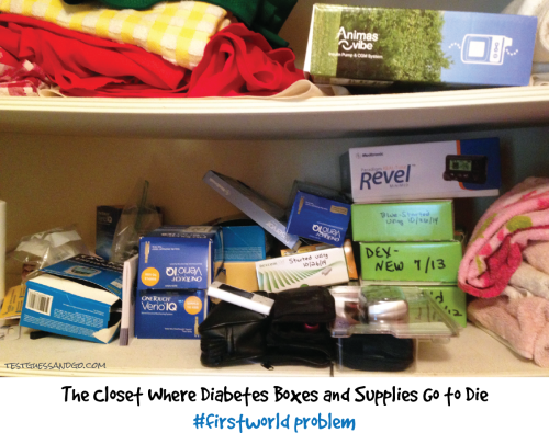 Closet Diabetes Supplies